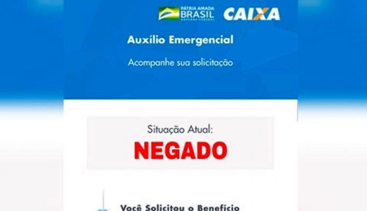 auxílio emergencial negado
